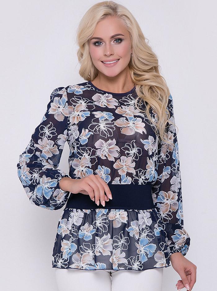 6f489a083cc Интернет-магазин Эгерия → Женская одежда → Блузы → Повседневные блузки → Блуза  Кармен цветы лаванда Elza