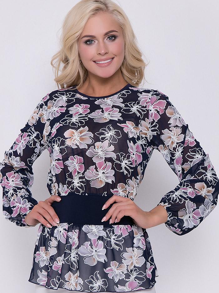 7a312187eb5 Интернет-магазин Эгерия → Женская одежда → Блузы → Повседневные блузки → Блуза  Кармен цветы сакура Elza