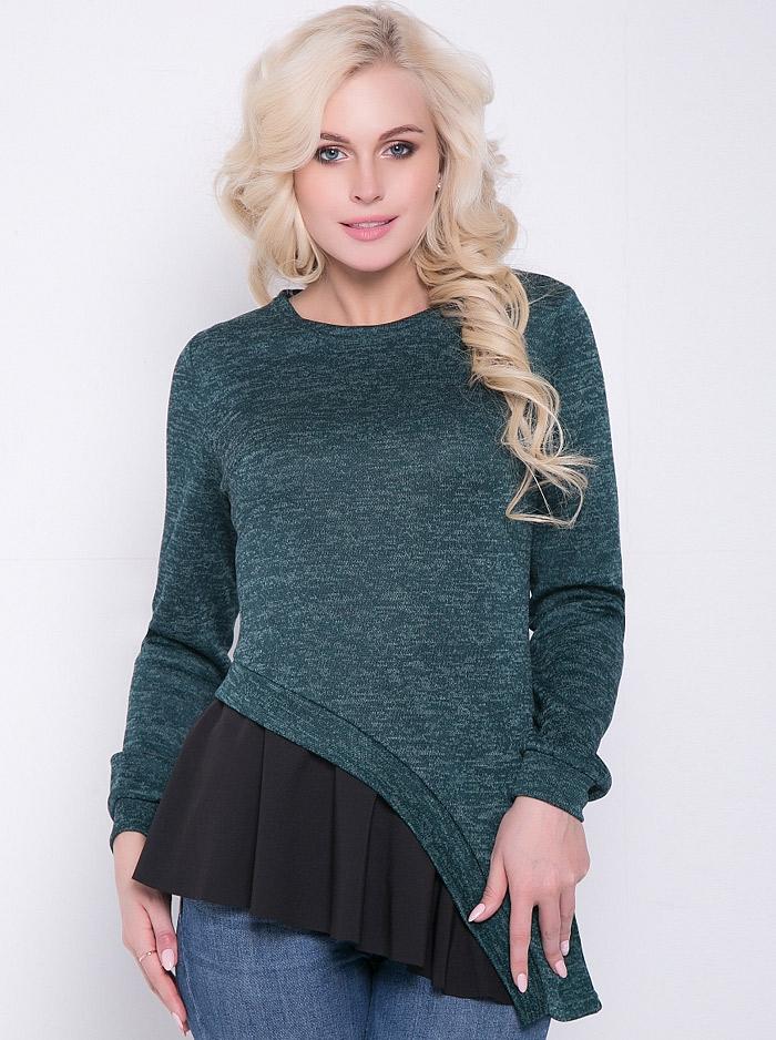768ea5a3489 Интернет-магазин Эгерия → Женская одежда → Блузы → Повседневные блузки →  Блузка Кассандра изумруд Elza