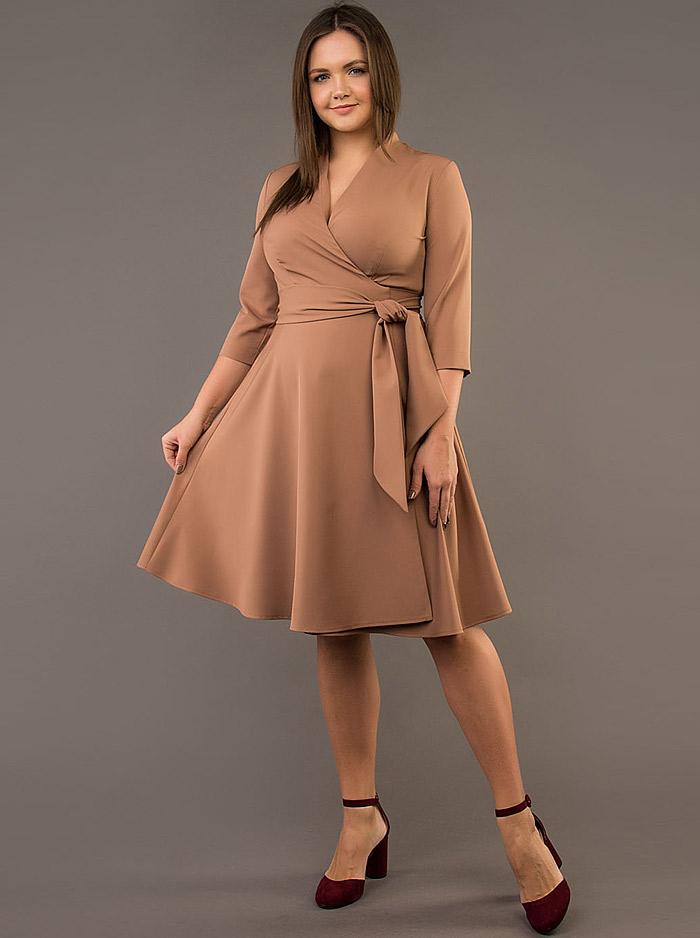 b7511fbd16378e Интернет-магазин Эгерия → Женская одежда → Платья → Повседневные платья →  Платье РП-936-10 кэмел Angelika