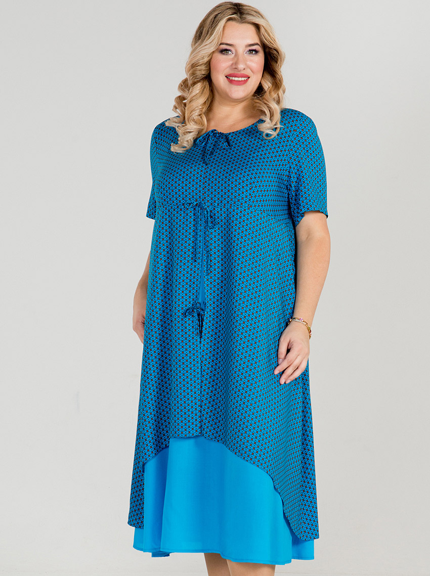 94afb474e06a994 Купить Платье 869 Синий Luxury Plus