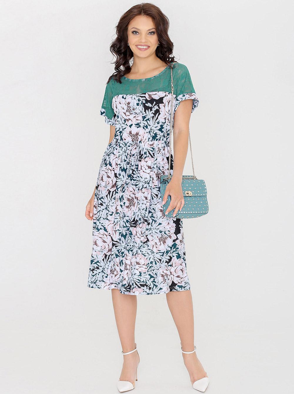 3fd697b4d9a36c3 Купить Платье П-0239 Летняя авантюра бирюза Dstrend