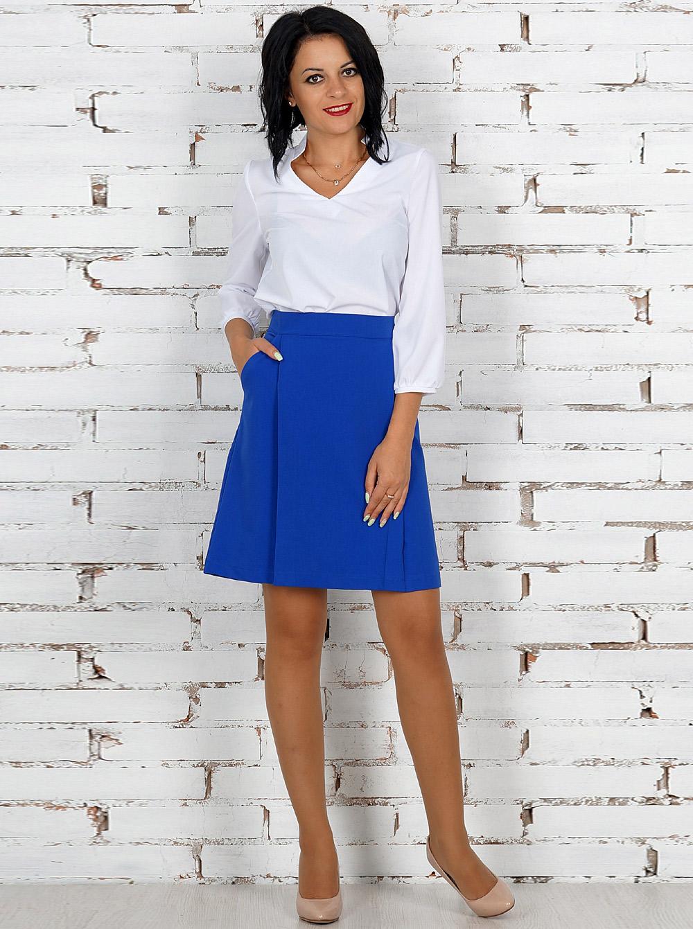 Купить Блуза АР-1683 Ajour , цвет: Белый  с доставкой в интернет-магазине Эгерия