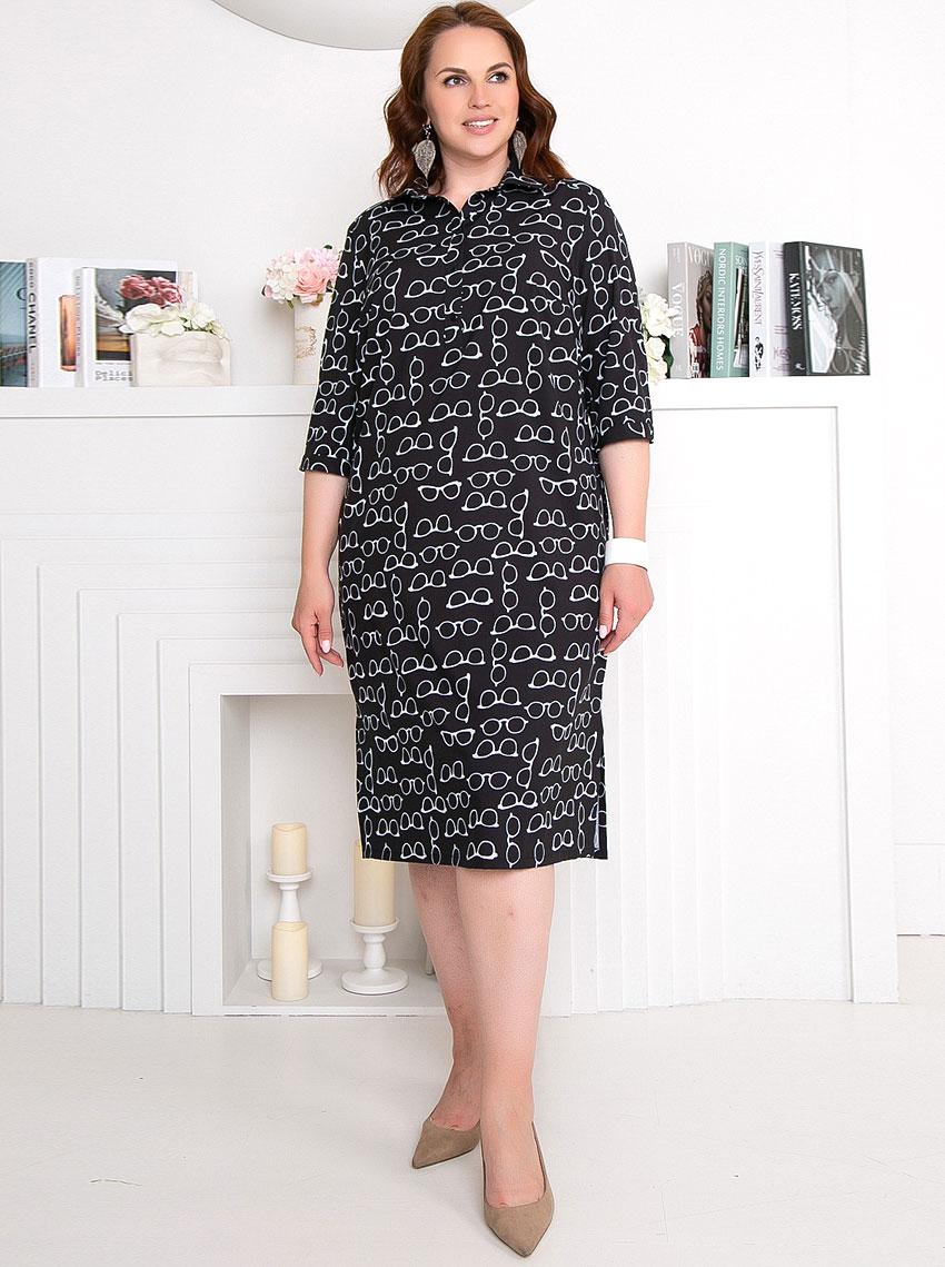 Купить Платье 4554 Prima Linea , цвет: Чёрный с доставкой в интернет-магазине Эгерия
