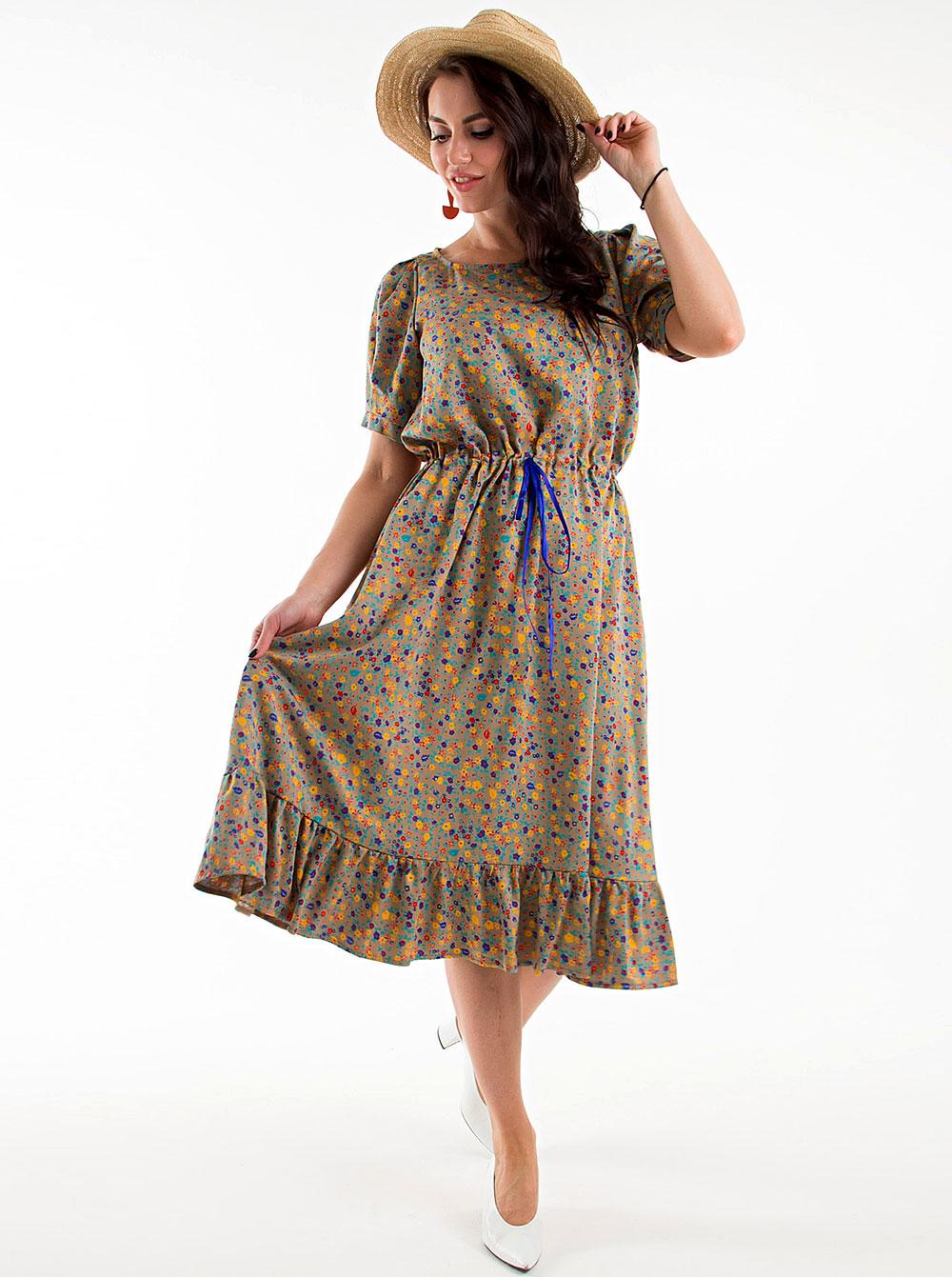 Купить Платье П1300-11 Taiga , цвет: Серый с доставкой в интернет-магазине Эгерия