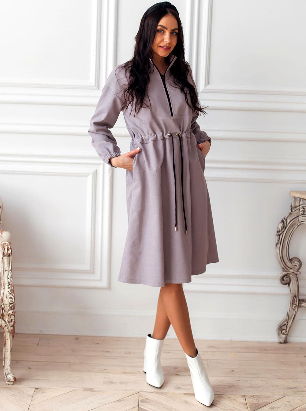 Купить Платье АП106-1 Extravaganto , цвет: Серый с доставкой в интернет-магазине Эгерия