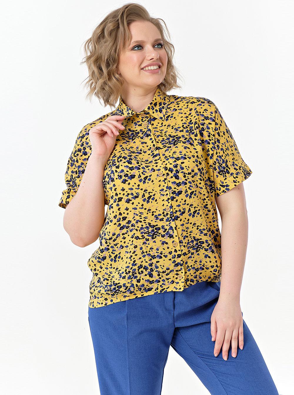 Купить Блуза 808-561 Diana , цвет: Жёлтый с доставкой в интернет-магазине Эгерия
