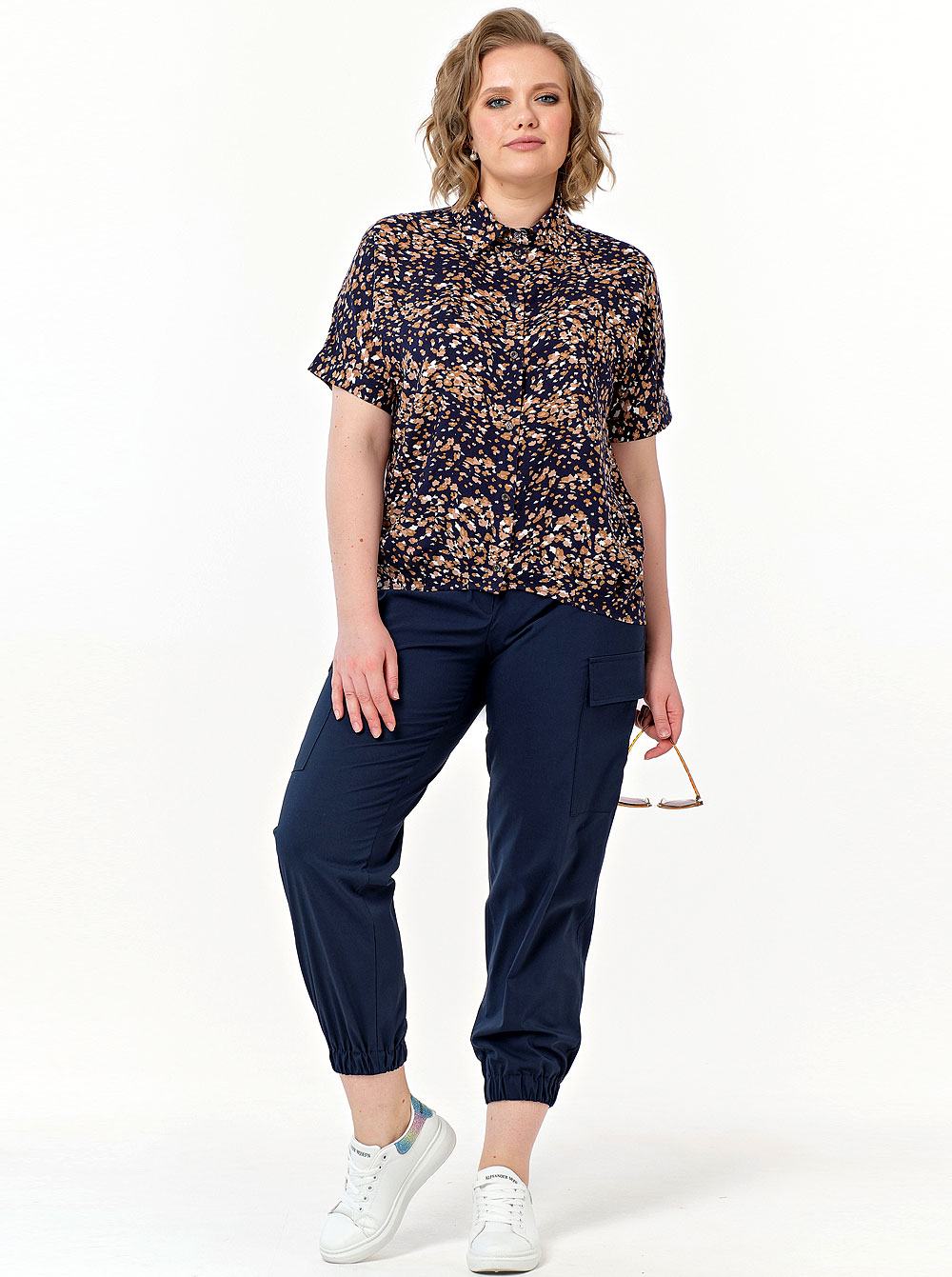 Купить Блуза 808-562 Diana , цвет: Синий с доставкой в интернет-магазине Эгерия