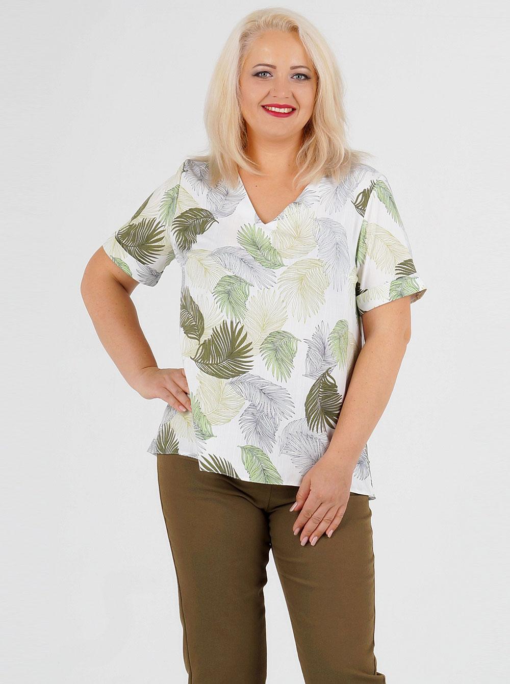 Купить Блуза Р-215-2 Malina , цвет: Белый с доставкой в
