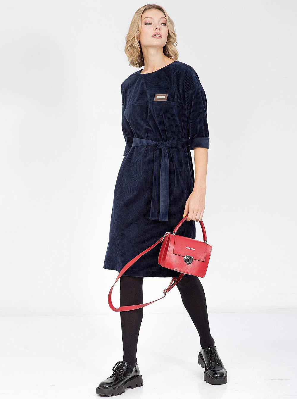 Купить Платье 201122-4451-64 Priz , цвет: Синий с доставкой в интернет-магазине Эгерия